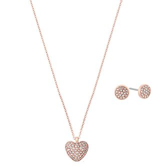 Michael Kors Rose Gold Tone Heart Jewellery Set - Product number 5937167