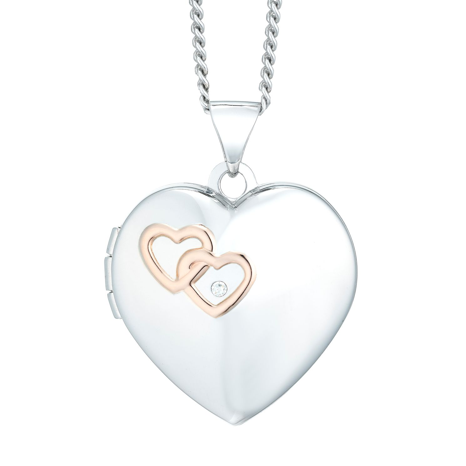 pendant locket small necklace inch heart si bling polished lockets smooth silver classic sterling jewelry