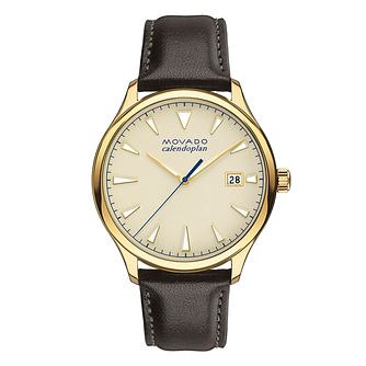 Movado Heritage Men's Gold Plated Strap Watch - Product number 5961815