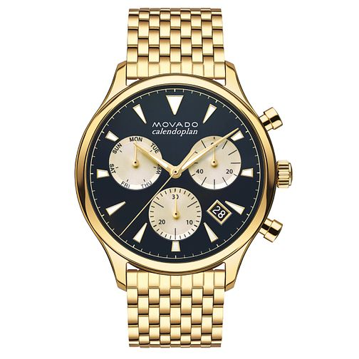Movado Heritage Men's Gold Plated Bracelet Watch - Product number 5962501