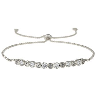 Mikey Rhodium Plated Cubic Zirconia Adjustable Bracelet - Product number 5971284
