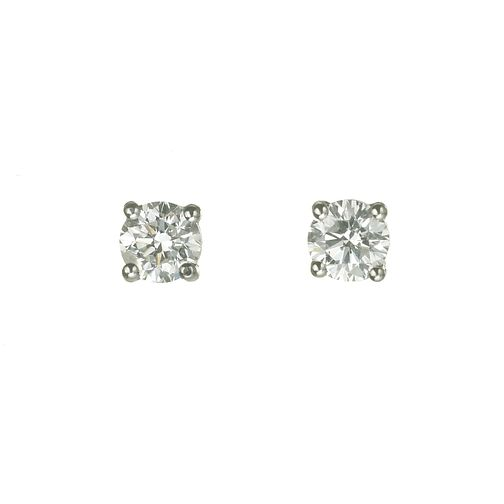 18ct white gold 3/4 carat Diamond Stud Earrings - Product number 5972590