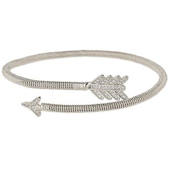 Mikey Rhodium Plated Arrow Cuff Bracelet - Product number 5973023