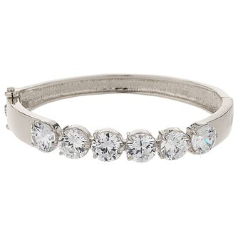 Mikey Rhodium Plated Cubic Zirconia Link Bracelet - Product number 5973031