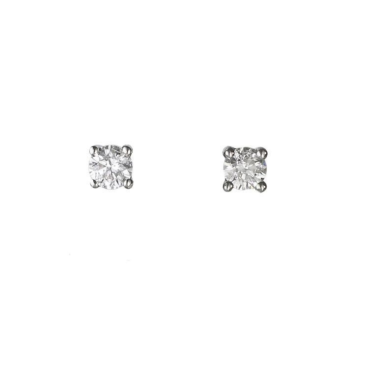 18ct white gold 0.25ct diamond solitaire earrings - Product number 5988535