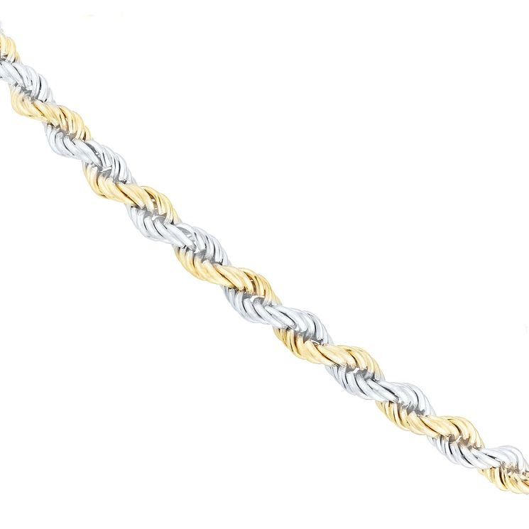 "9ct Yellow Gold 8"" Rope Bracelet - Product number 6004326"