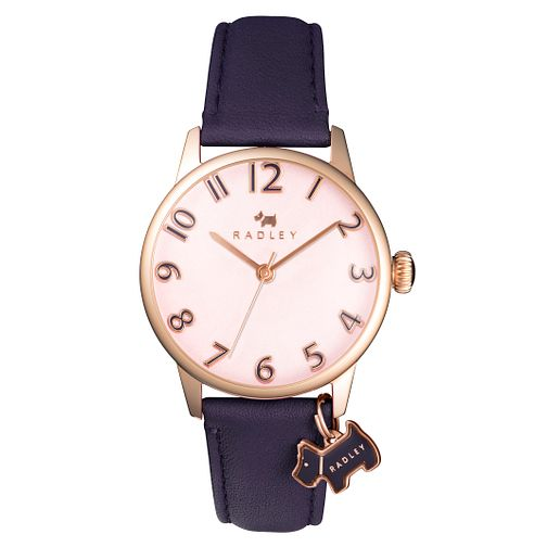 Radley Ladies' Purple Leather Strap Watch - Product number 6006701