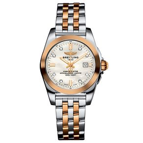 Breitling Galactic 29 Ladies' Two Colour Bracelet Watch - Product number 6007066