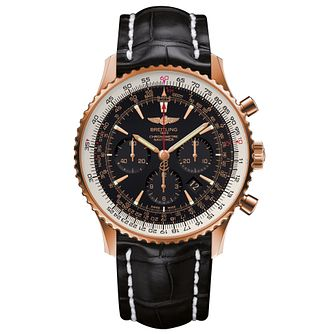 Breitling Navitimer 01 46mm Men's 18ct Rose Gold Strap Watch - Product number 6007139