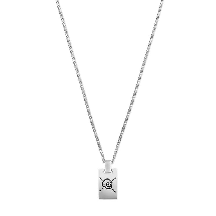 Gucci Ghost Men's Sterling Silver Dogtag Pendant - Product number 6008631