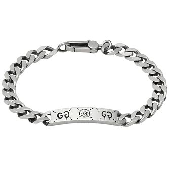 Gucci Ghost Men's Sterling Silver ID Bracelet - Product number 6008658