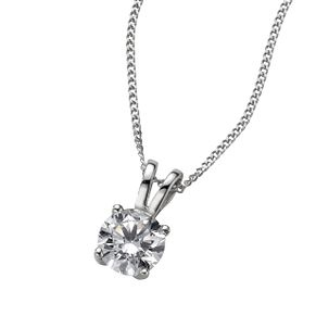 Platinum 0.66ct G/H SI1 diamond pendant - Product number 6008704