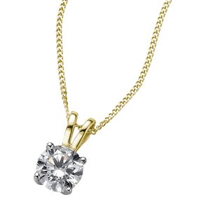 18ct yellow gold 0.66ct F/G VS2 Diamond pendant - Product number 6008763