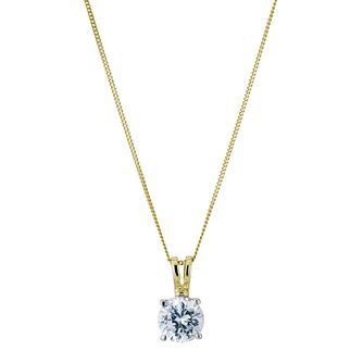 18ct yellow gold 1ct G/H SI1 solitaire pendant - Product number 6008801
