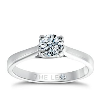 Leo Diamond platinum 0.50ct I-SI2 solitaire ring - Product number 6022049
