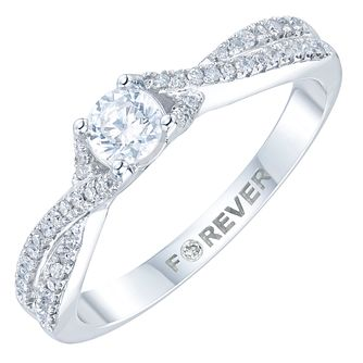 Platinum 1/3 Carat Forever Diamond Ring - Product number 6024688