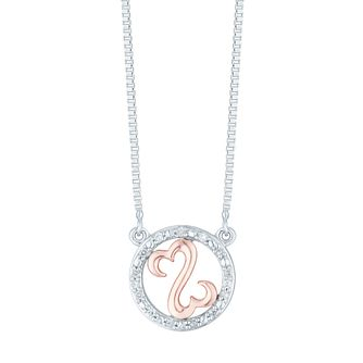 Open Hearts Silver 9ct Round 0.5ct Pendant - Product number 6027717