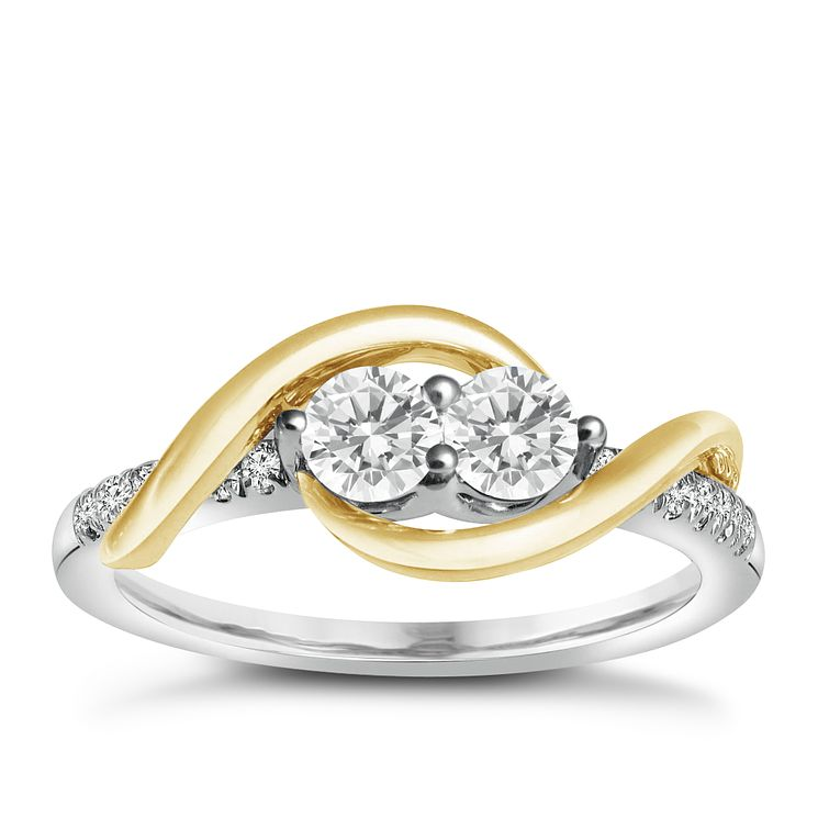 Ever Us 14ct Yellow & white gold 0.50ct diamond ring - Product number 6035868