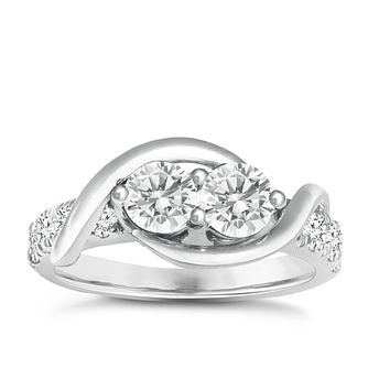 Ever Us 14ct white gold 1.50ct two stone diamond ring - Product number 6038271