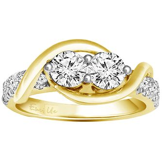 Ever Us 14ct yellow gold 1.50ct two stone diamond ring - Product number 6038417