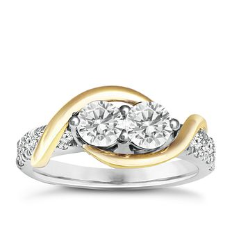 Ever Us 14ct yellow & white gold 1.50ct diamond ring - Product number 6038549