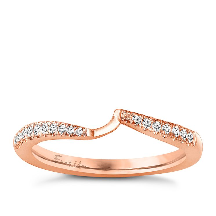 Ever Us 14ct rose gold 0.12ct diamond shaped band - Product number 6038883