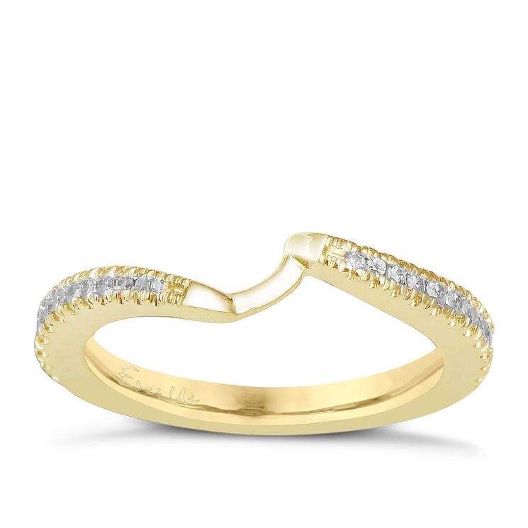 Ever Us 14ct yellow gold 0.25ct diamond shaped band - Product number 6040225