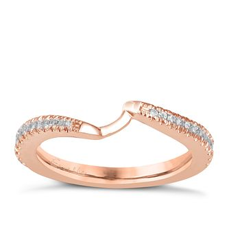 Ever Us 14ct rose gold 0.25ct diamond shaped band - Product number 6040357