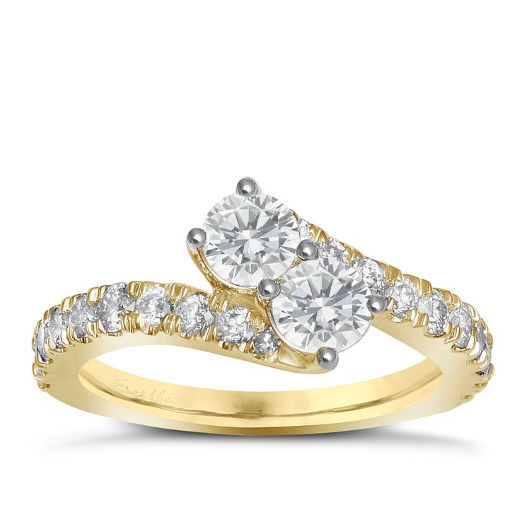 Ever Us 14ct yellow gold 1.50ct two stone diamond twist ring - Product number 6040845