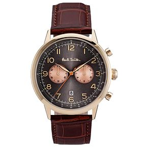 Paul Smith Precision 42mm Men's Rose Gold Tone Strap Watch - Product number 6043380
