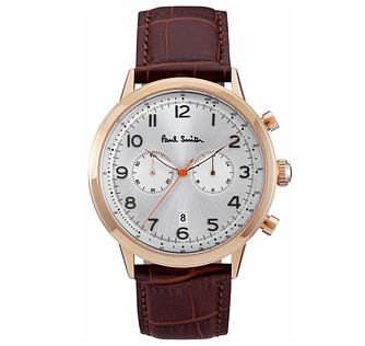 Paul Smith Precision 42mm Men's Rose Gold Tone Strap Watch - Product number 6043399