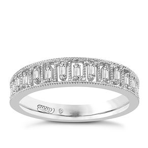 Emmy London Palladium 0.16 Carat Baguette Cut Diamond Ring - Product number 6047831