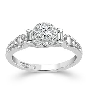 Emmy London Platinum 1/3 Carat Diamond Halo Ring - Product number 6047963