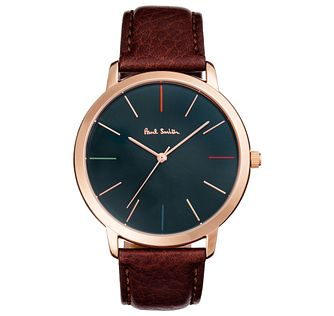 Paul Smith MA 41mm Men's Rose Gold Tone Strap Watch - Product number 6048935