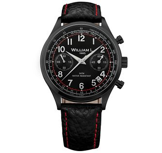 William L Vintage Chronograph Men's Ion Plated Strap Watch - Product number 6050719