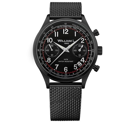 William L Vintage Chronograph Men's Ion Plated Watch - Product number 6050743