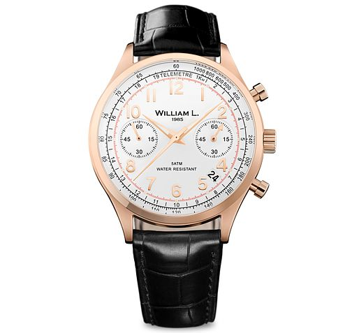 William L Vintage Chronograph Men's Rose Gold Plated Watch - Product number 6050824