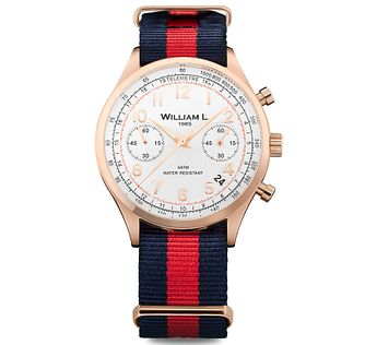 William L Vintage Chronograph Men's Rose Gold Plated Watch - Product number 6050832
