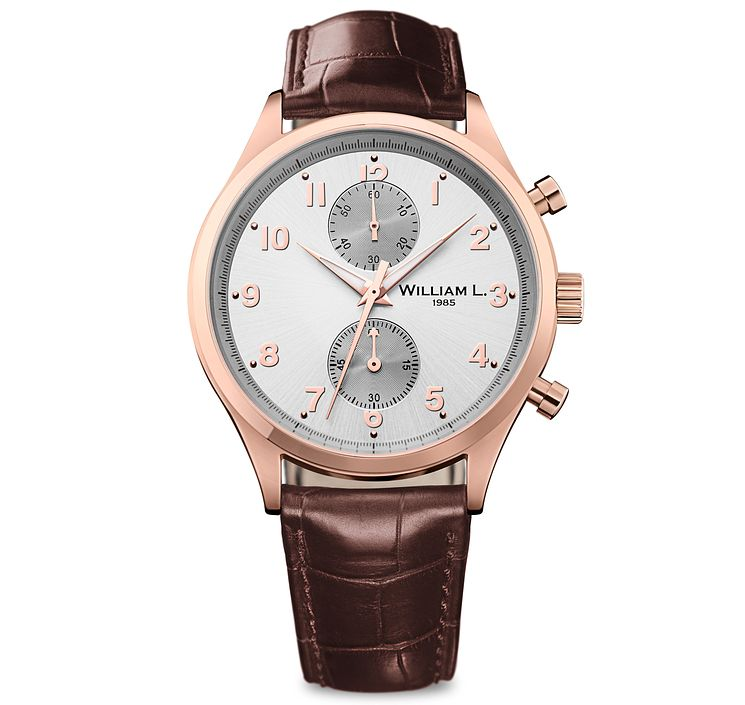 William L Small Chronograph Men's Rose Gold Plated Watch - Product number 6050840