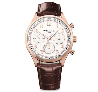 William L Vintage Calendar Men's Rose Gold Plated Watch - Product number 6050867