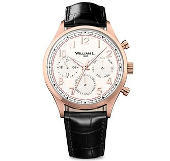 William L Vintage Calendar Men's Rose Gold Plated Watch - Product number 6050875
