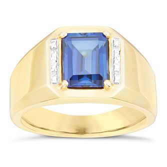 9ct Gold Sapphire & Diamond Ring - Product number 6056016