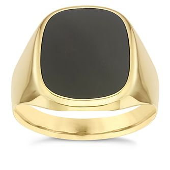 9ct Yellow Gold Onyx Ring - Product number 6058019