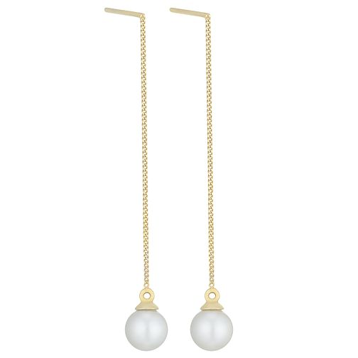 9ct Yellow Gold Cultured Freshwater Pearl Drop Earrings - Product number 6074812