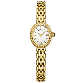 Rotary Ladies' Cocktail Gold Plated Bracelet Watch - Product number 6076696