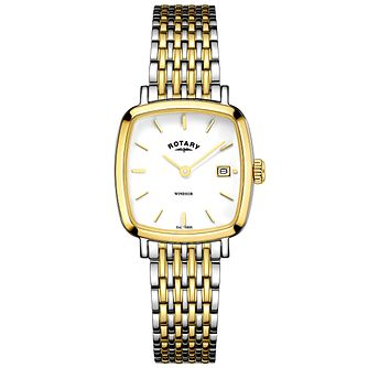 Rotary Ladies' Two Tone Gold Plated Bracelet Watch - Product number 6076785