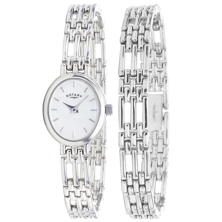 Rotary Ladies' Sterling Silver Watch Set - Product number 6077196