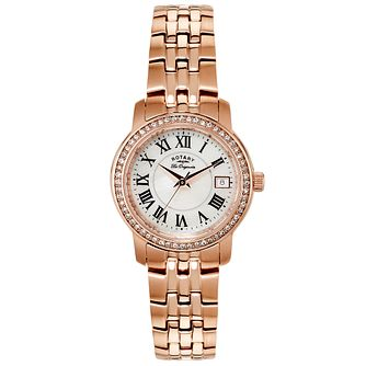 Rotary Ladies' Rose Gold Plated Bracelet Watch - Product number 6077404