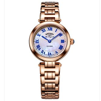 Rotary Ladies' Lucerne Rose Gold Bracelet Watch - Product number 6077439