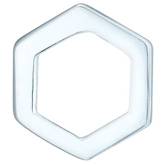 Sterling Silver Open Hexagon Single Stud Earring - Product number 6081401